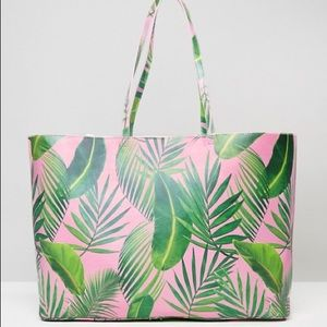 Like new ASOS oversized palm print shopper tote